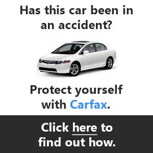 Has this car been in an accident?  Protect yourself with Carfax.  Click here to find out how.